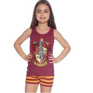 Harry Potter Burgundy Gryffindor Pajama Set